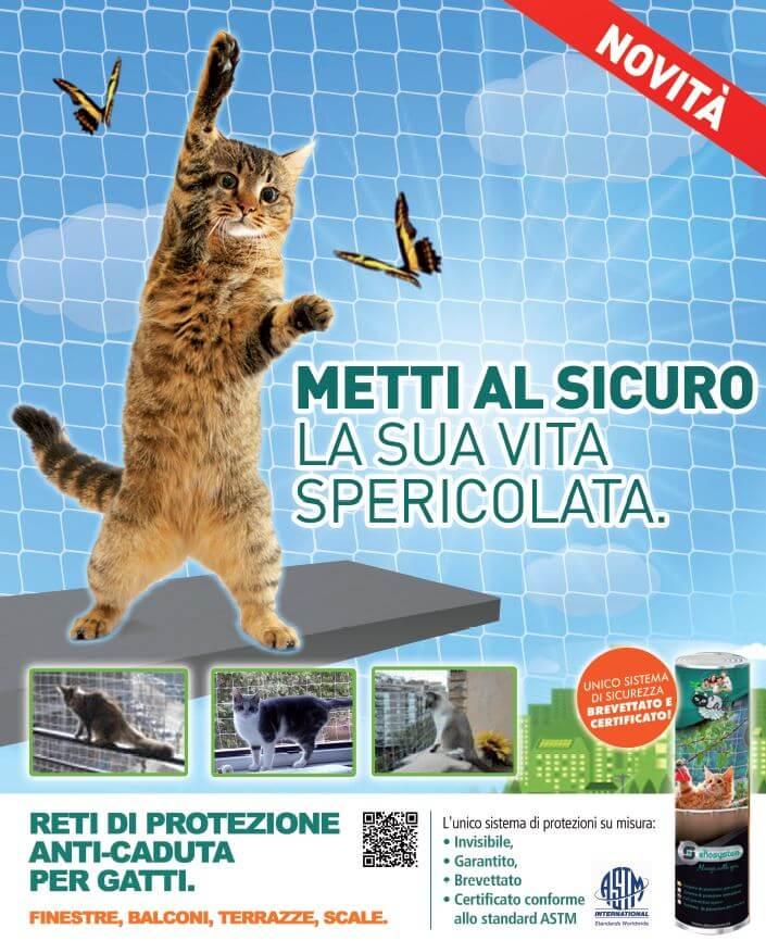 Rete anticaduta gatti
