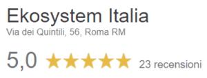 Ekosystem-Italia-Opinioni-Google-5-stelle